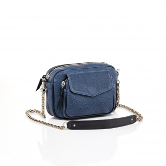 Navy Bubble Leather Charly Bag