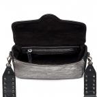 Used Silver Leather Bag Ava Medium Snake