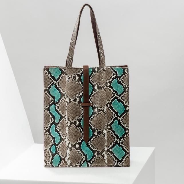 Claris Virot: Tote Bag Georgia Turquoise - Hiphunters Shop