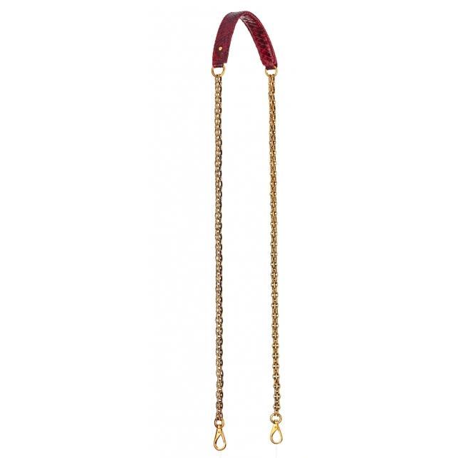 Burgundy Python Golden Chain with Hooks