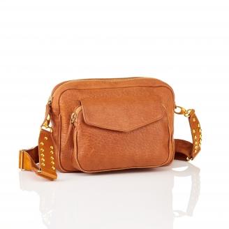 Brown Leather Big Charly Bag Chain