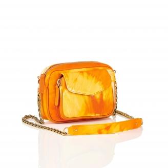 Orange T&D Lamb Leather Charly Bag