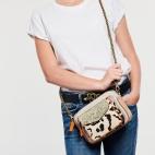 Leopard Glitter Lamb Leather Charly Bag