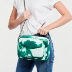 Green T&D Lamb Leather Big Charly Bag Chain