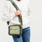 Tricolor Metallic Jade Python Bag Charly with strap