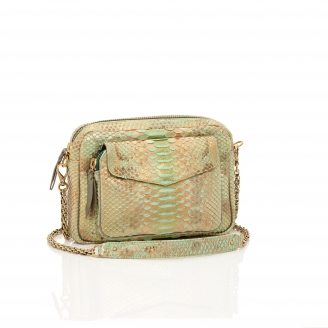 Metallic Jade Python Bag Big Charly Chain