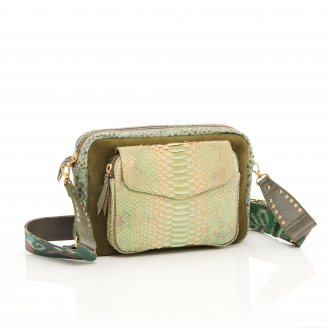 Jade Metallic Bag Jumbo Charly With Shoulder Strap