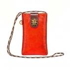 Orange Fire Lizard Phone Bag Marco