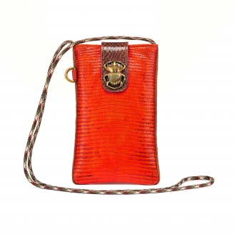 Orange Fire Lizard Phone Bag Marco