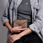 Python Card Holder Alex Gold Leather