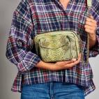 Metallic Jade Python Bag Charly