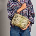 Metallic Jade Python Bag Big Charly Chain