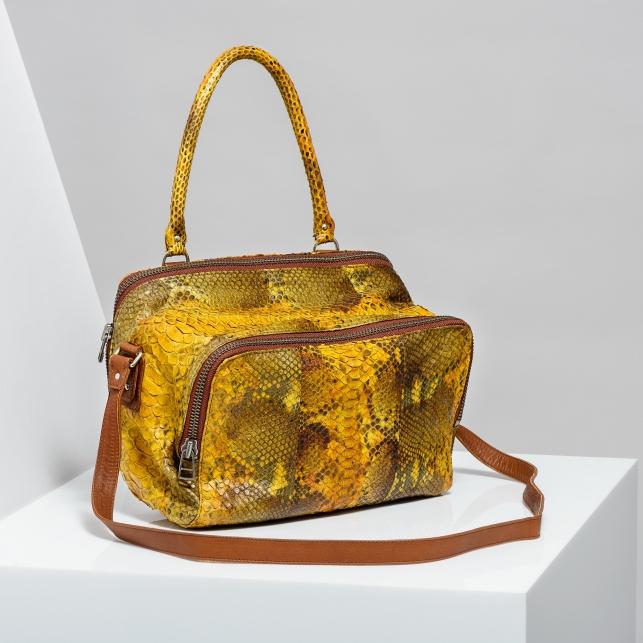 Claris Virot: Bag Lalya Orange Painted - Hiphunters Shop