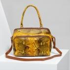 Claris Virot: Bag Lalya Orange Painted   Bags,Bags > Shoulder Bags -  Hiphunters Shop
