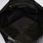 Black Turtle Leather Tote Felix