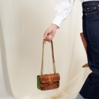 Moka Turtle Python Mini Ava Bag