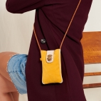 Yellow Leather Phone Bag Marcus
