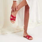 Red Python Nina Sandals