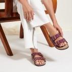 Violet Lizard Odette Sandals