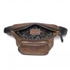 Bronze Leather Fanny Pack Romeo Claris Virot x Veronika Loubry