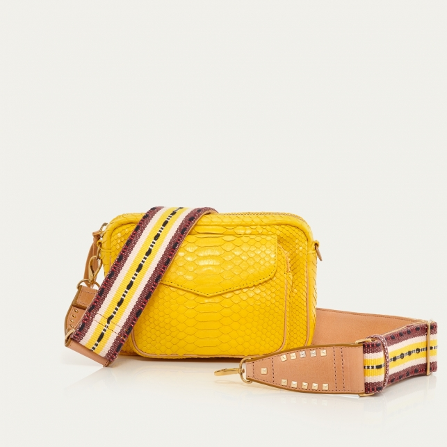 Yellow Rubber Python Charly Bag
