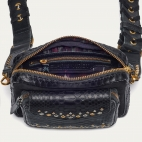 Eyelets Black Python Charly Bag