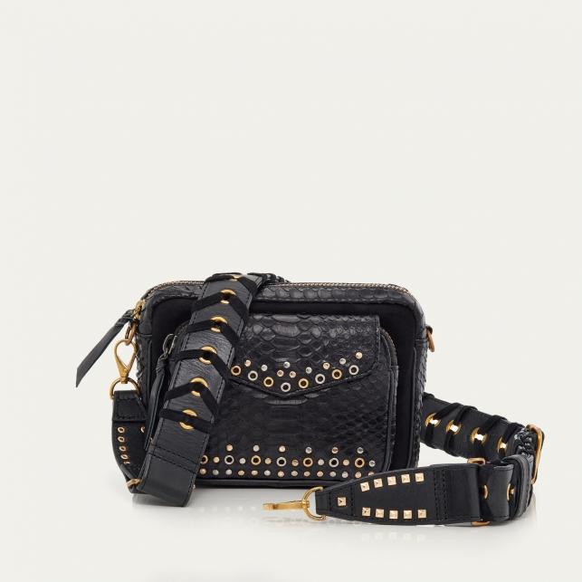 Eyelets Black Python Charly Bag