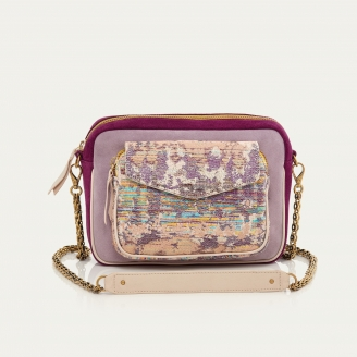Opale Leather and Suede Charly Bag