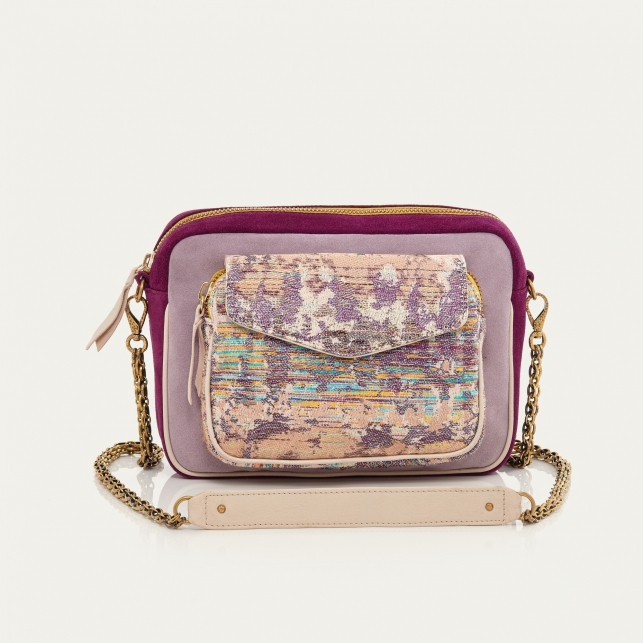 Opale Leather and Suede Big Charly Bag