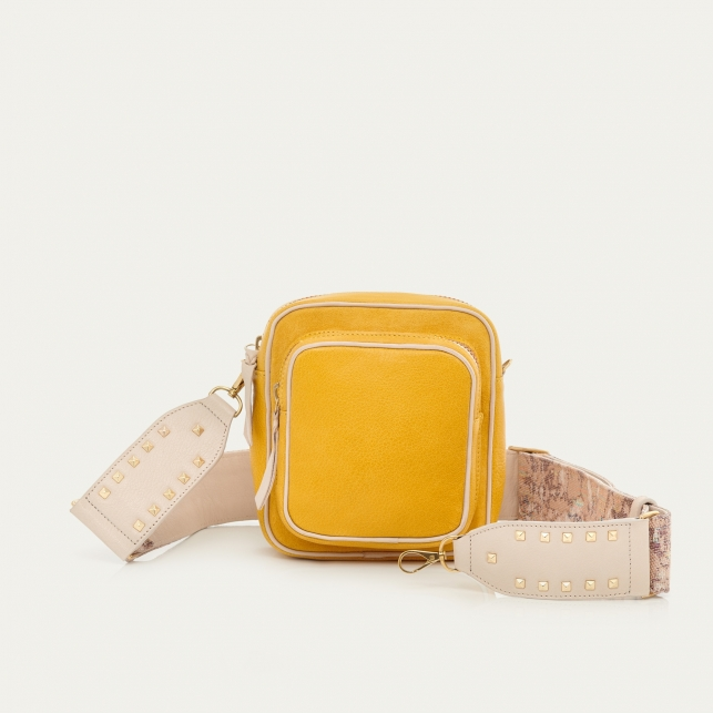 Yellow Leather Mini Charly Bag