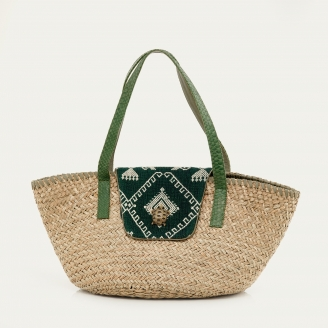 Timor Green Basket Zoe