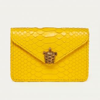 Python Card Holder Alex Yellow Rubber Turtle