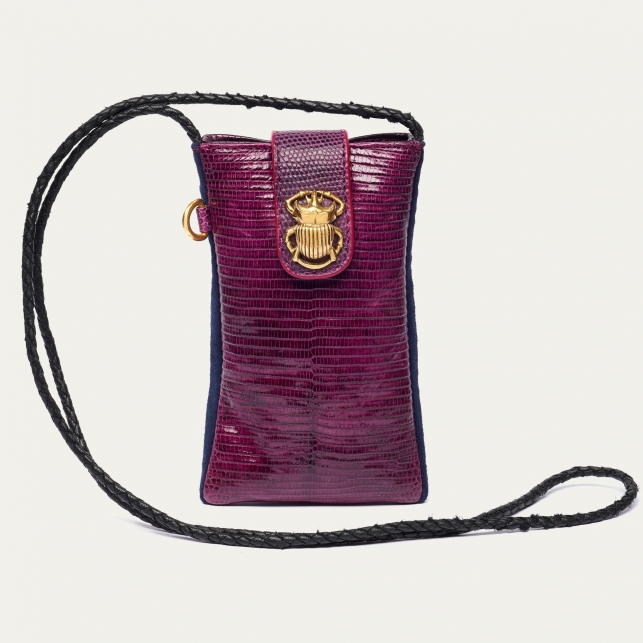 Violet Lizard Phone Bag Marcus