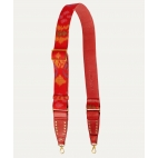 Endek Red Printed Strap with Hooks