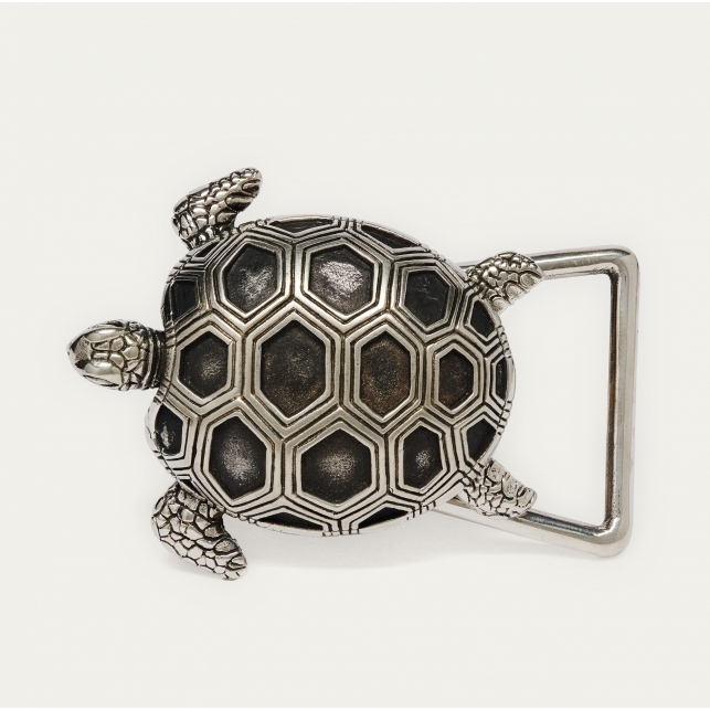 Silver Turtle Buckle