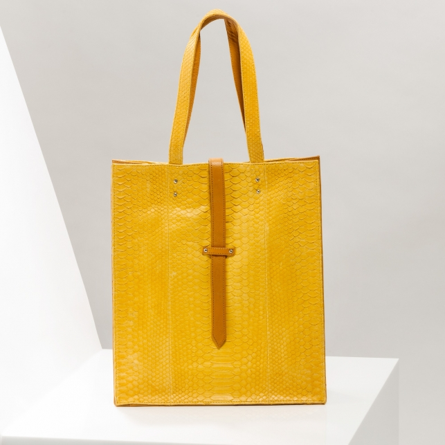 Claris Virot: Tote Bag Georgia Yellow - Hiphunters Shop