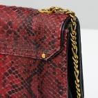 Claris Virot: Bag Anna Burgundy Gold Chain | Bags,Bags > Shoulder Bags -  Hiphunters Shop