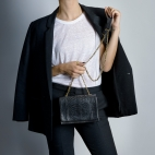 Claris Virot: Bag Anna Black Gold Chain | Bags,Bags > Shoulder Bags -  Hiphunters Shop