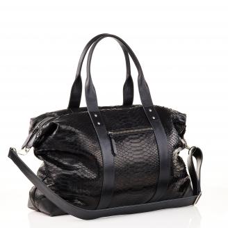 Week End black Python Bag Roger For Men