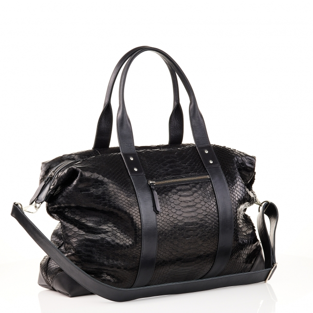 Week End black Python Bag Roger For Men