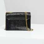 Claris Virot: Bag Anna Black Gold Chain   Bags,Bags > Shoulder Bags -  Hiphunters Shop