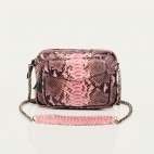 Bag Python Big Charly Pink Powder With Chain