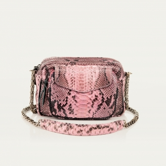 Pink Powder Charly Python Bag