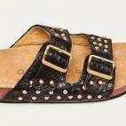 Sandals Python Odette Black Gold Studs