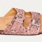Powder Pink Python Odette Sandals