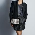 Claris Virot: Bag Anna Diamond Silver Chain   Bags,Bags > Shoulder Bags -  Hiphunters Shop