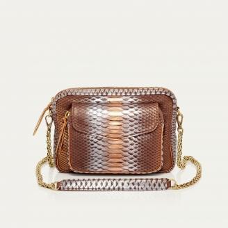Chocolate Python Big Charly Bag