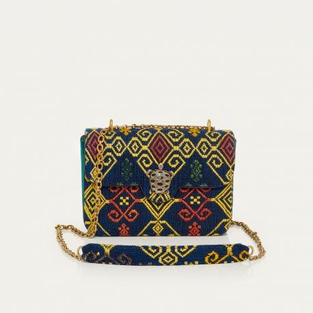 Blue Sumba Leather Ava Medium Bag