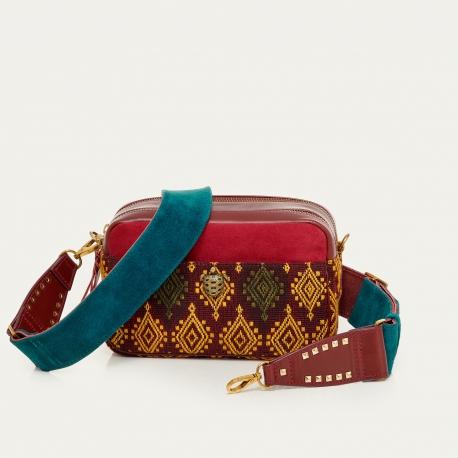 Burgundy Sumba Leather Bag Lily