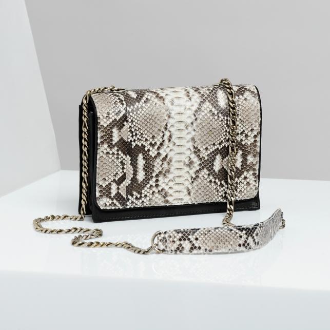 Claris Virot: Bag Anna Diamond Silver Chain - Hiphunters Shop